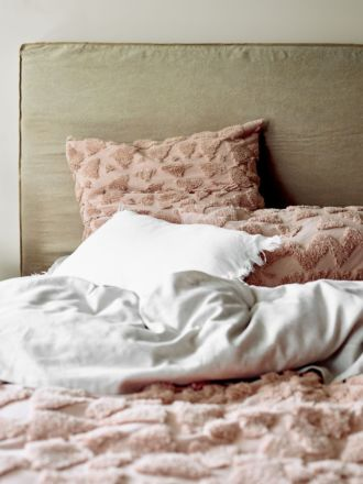 Maya Standard Pillowcase - Rosewater