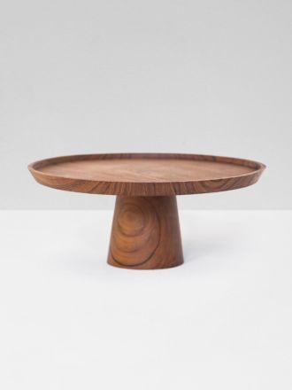 Polly Cake Stand - Teak