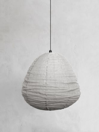 Fringed Linen Light Shade - Mink