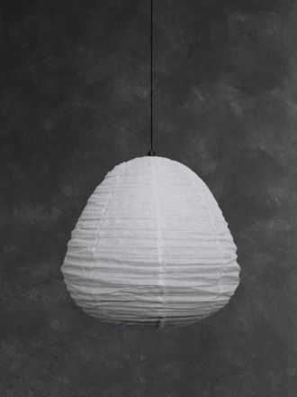 Fringed Linen Light Shade - Cloud Grey