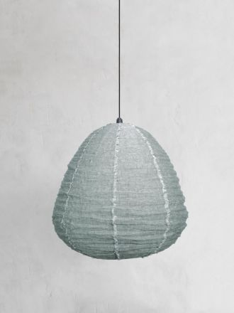 Fringed Linen Light Shade - Eucalypt
