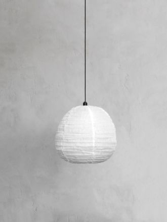 Fringed Linen Light Shade Small - Marshmallow