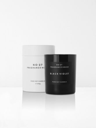 Black Violet Scented Candle by No 27 Fragrance House