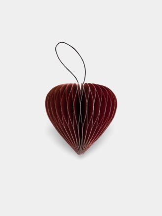 Paper Christmas Decoration - Red Glitter Heart