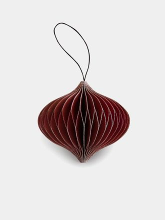 Paper Christmas Decoration - Red Glitter Onion