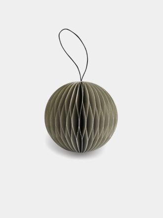 Paper Christmas Decoration - Sage Glitter Bauble
