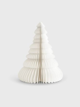 Standing Paper Christmas Tree 20cm - Silver Glitter