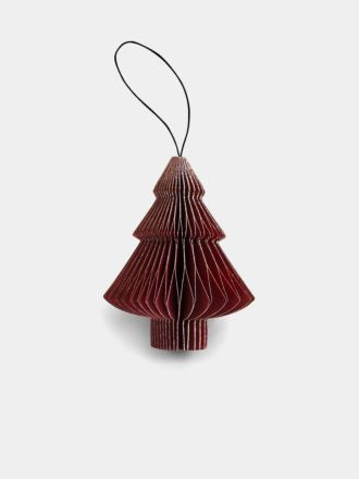Paper Christmas Decoration - Red Glitter Tree