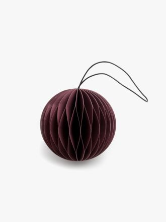 Paper Christmas Decoration - Dark Red Bauble