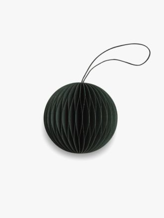 Paper Christmas Decoration - Forest Green Bauble