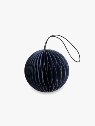 Paper Christmas Decoration - Midnight Blue Bauble