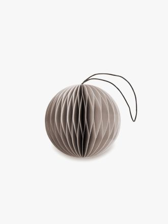 Paper Christmas Decoration - Nude Grey Bauble