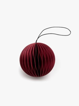 Paper Christmas Decoration - Red Bauble