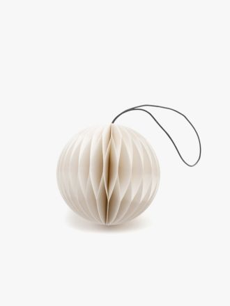 Paper Christmas Decoration - White Bauble
