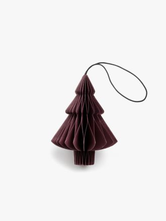 Paper Christmas Decoration - Dark Red Tree