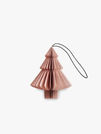 Paper Christmas Decoration - Dusty Rose Tree