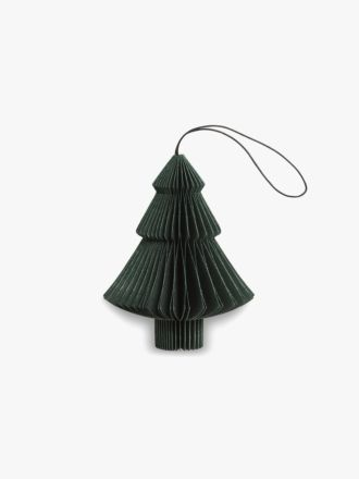 Paper Christmas Decoration - Forest Green Tree