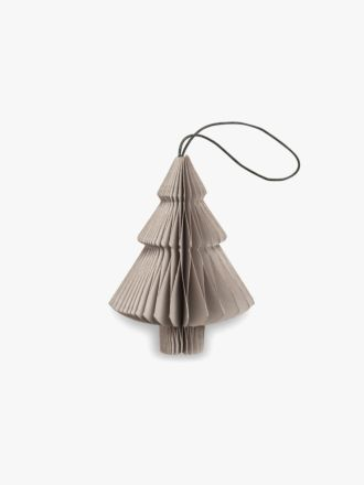 Paper Christmas Decoration - Nude Grey Tree