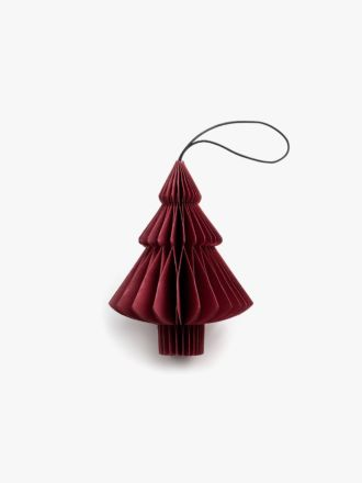 Paper Christmas Decoration - Red Tree