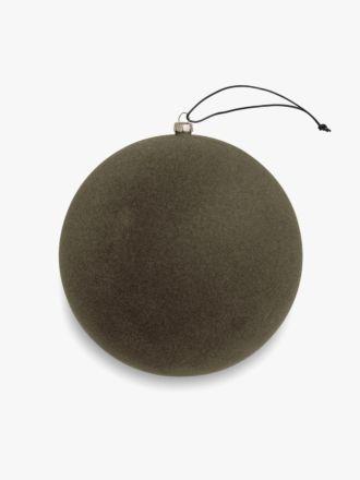 Velvety Ball Christmas Decoration - Large Mocha