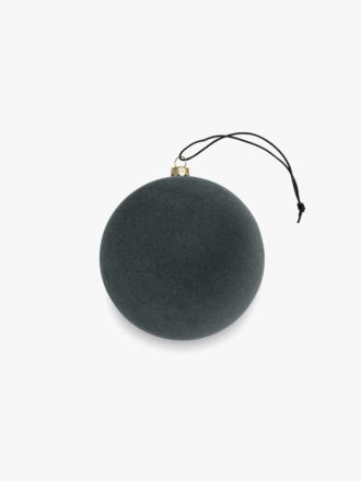 Velvety Ball Christmas Decoration - Small Pine Green