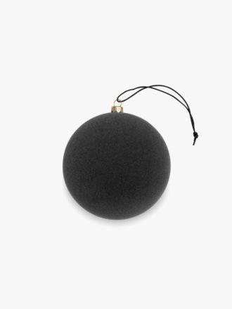 Velvety Ball Christmas Decoration - Small Smoke