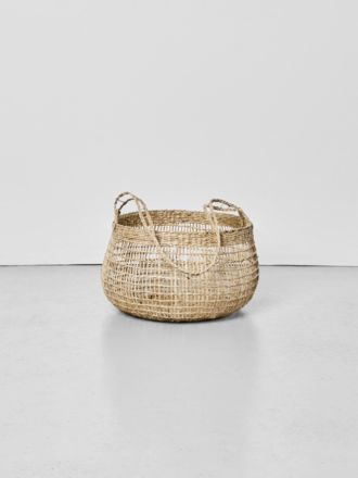 Lally Woven Basket with Long Handle Medium
