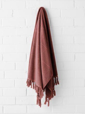 Paros Bath Towel - Mahogany