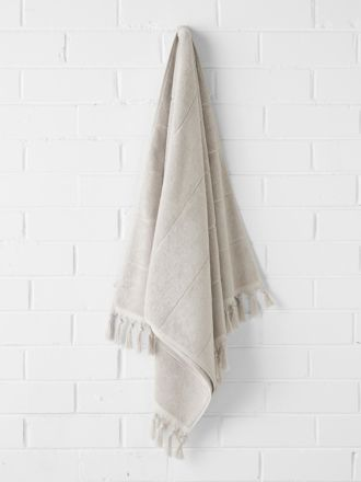 Paros Bath Towel - Natural