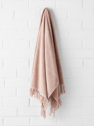 Paros Bath Towel - Pink Clay