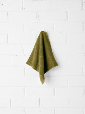 Paros Face Washer - Olive