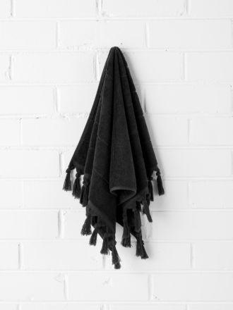 Paros Hand Towel - Black