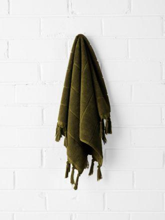 Paros Hand Towel - Khaki