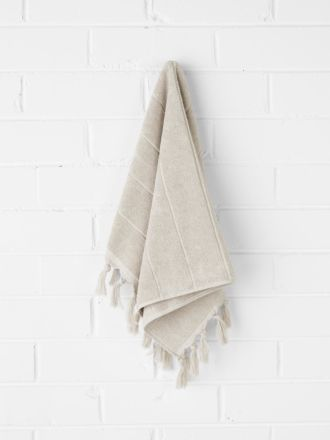 Paros Hand Towel - Natural