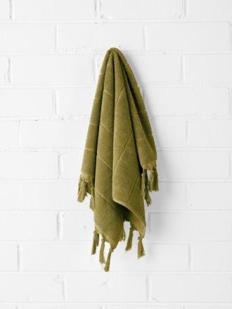 Paros Hand Towel - Olive