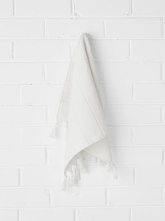 Paros Hand Towel - White Wash