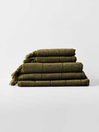 Paros Bath Towel Set - Khaki