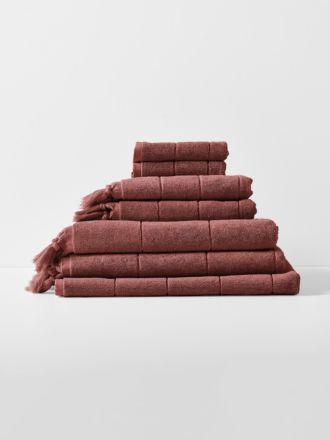 Paros Bath Towel Set - Mahogany