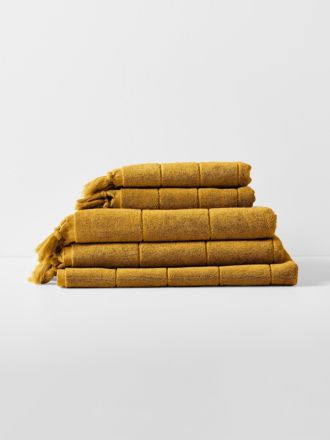 Paros Bath Towel Set - Mustard
