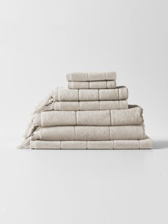 Paros Bath Towel Set - Natural