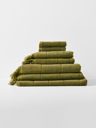 Paros Bath Towel Set - Olive