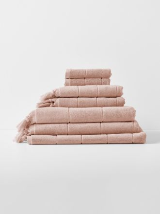 Paros Bath Towel Set - Pink Clay