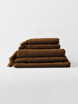Paros Bath Towel Set - Tobacco