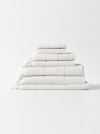 Paros Bath Towel Set - White Wash