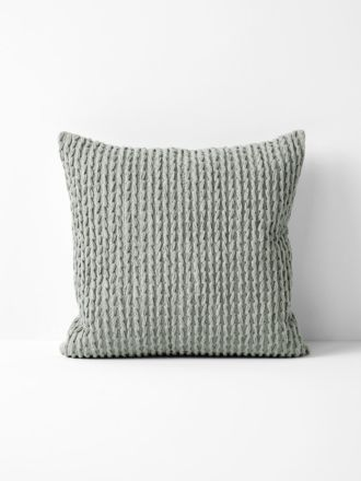 Plaited Knit Cushion - Dove