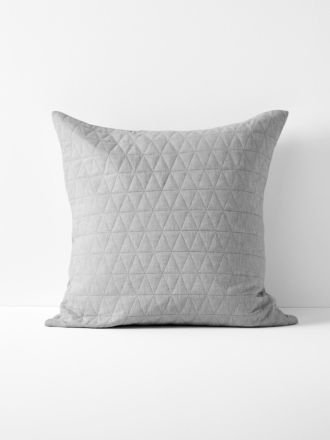 Chambray Quilted European Pillowcase in Dove