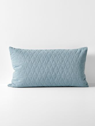 Chambray Quilted Standard Pillowcase
