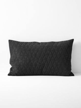 Chambray Quilted Standard Pillowcase - Khol