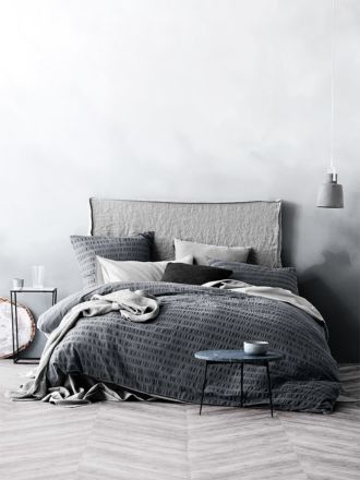 Rarni Quilt Cover Set - Steel Grey
