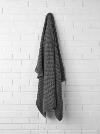 Ribbed Throw - Grey